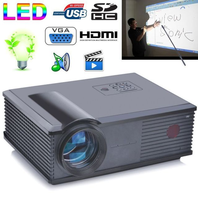 Yonis Vidéoprojecteur 3200 Lumens Led 160W Home cinema Hd 1080p Gris