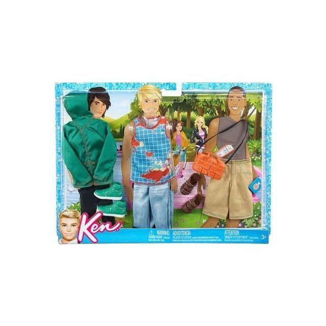 Barbie - Mattel - Accessoire Poupee Barbie - 3 Tenues Ken - Veste Et Short  Et 0956f44e3d36