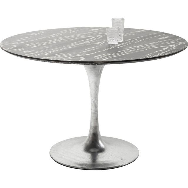 Karedesign Table Invitation ébène & zinc 120cm Kare Design