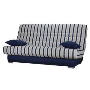 les essentiels by dlm banquette clic clac housse en tissu avec matelas mousse sofaconfort 14cm. Black Bedroom Furniture Sets. Home Design Ideas