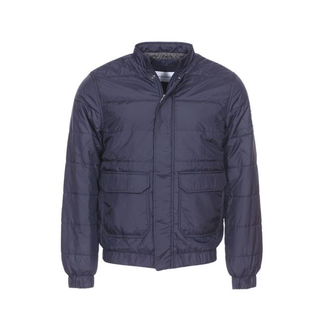 b2a0e9b2eb0 Calvin Klein - Blouson léger et matelassé Jeans bleu nuit - pas cher Achat    Vente Blouson homme - RueDuCommerce