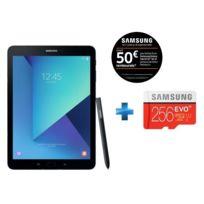 Samsung - Galaxy Tab S3 - 9,7'' - 32 Go - Noir + Carte micro SD 256 Go EVO PLUS classe 10 100Mo/s avec adaptateur SD