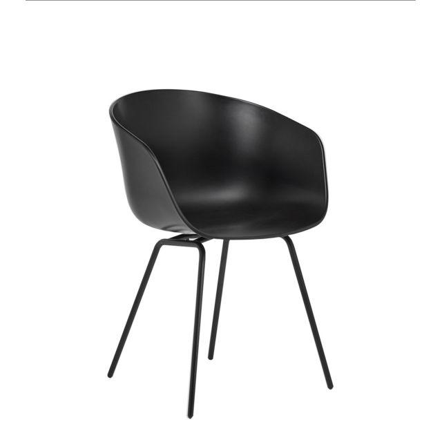 Hay About a Chair Aac 26 - blanc crème - aluminium poli