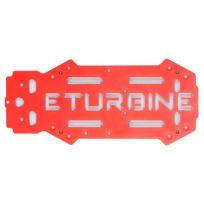 eturbine - Plaque de châssis supérieure optionnelle aluminium rouge TB250
