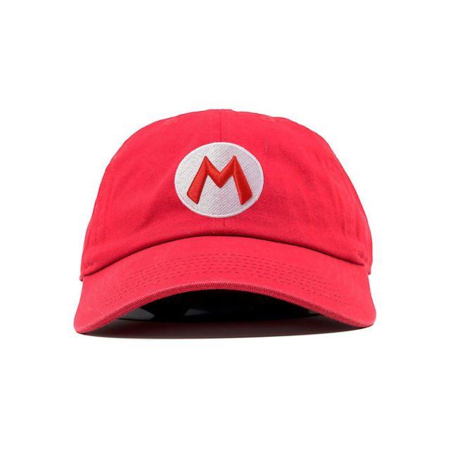 b3dcfe5435cb1 Magiccustom - Magic Custom - Casquette Baseball Rouge Mario Bros Logo