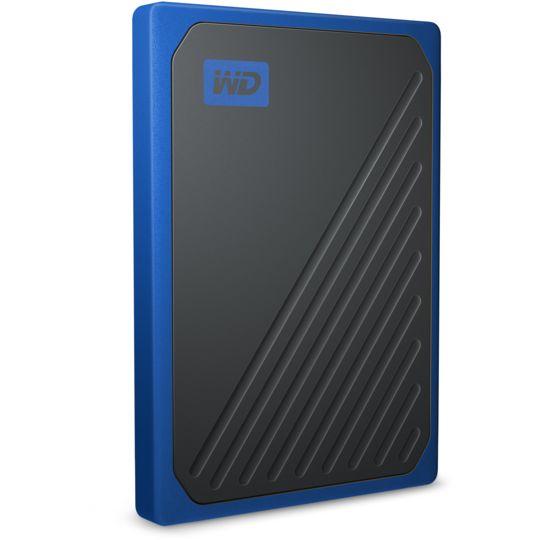 WESTERN DIGITAL Disque dur externe 500 Go - WDBMCG5000ABT-W - Bleu