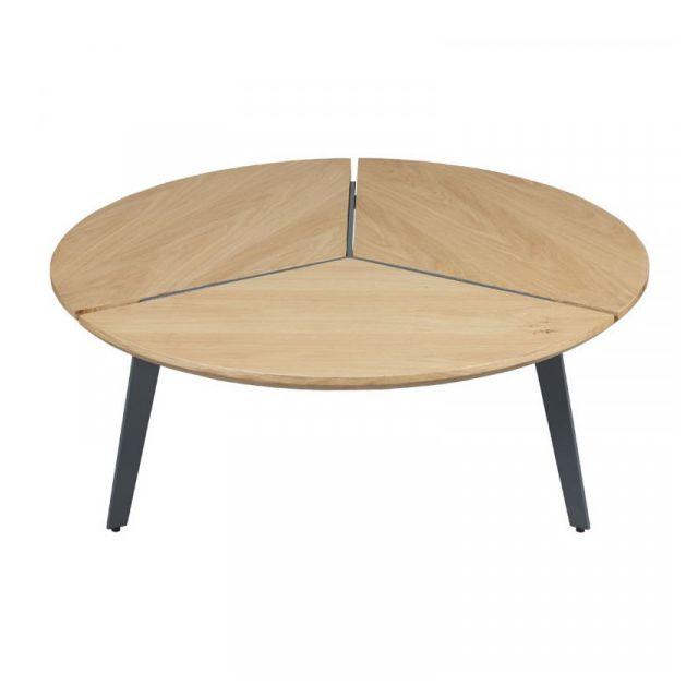 Dansmamaison Table basse Métal/Bois - Talens - L 85 x l 85 x H 34 cm