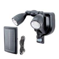 Provence Outillage - Lampe solaire projecteur 2 têtes 38 led