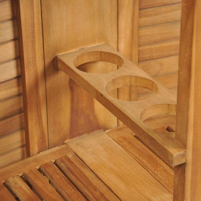 Icaverne - Ensembles de meubles d'extérieur categorie Jeu de bar d'extérieur 3 pcs Teck