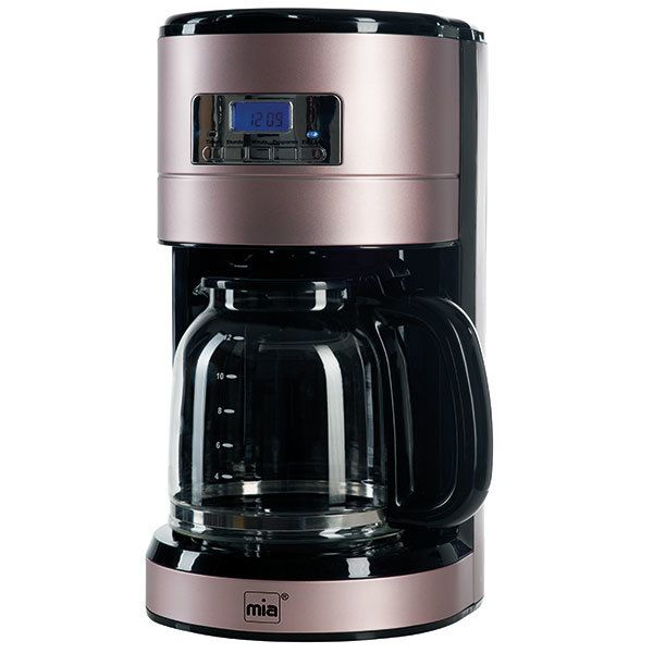 Miagermany Mia-Germany - Kf 1743 Rg - Cafetère programmable Design - Coloris Or-Rose - 1000 Watts
