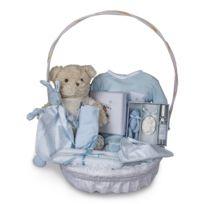 Bebedeparis - Panier naissance complet vintage bleu