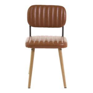 alinéa - emile chaise rétro capitonnée coloris camel - pas cher ... - Chaise Retro Pas Cher