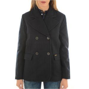 pepe jeans caban en laine hazel les bleus pas cher achat vente manteau femme rueducommerce. Black Bedroom Furniture Sets. Home Design Ideas