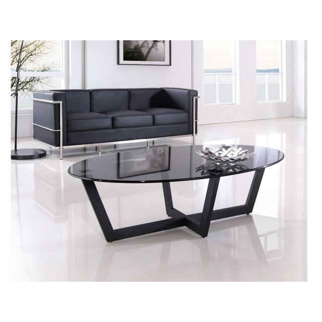 La Maison Du Canape Table Basse Dona Noir Pas Cher Achat