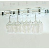 Sobrio - Porte-verre mural en plexiglas transparent - 12 verres - Plexiglas transparent Aci-sbr409