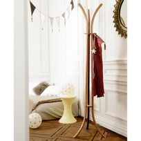 Compactor Home - Porte manteau 3 branches en bambou D.48x177cm Bambuk