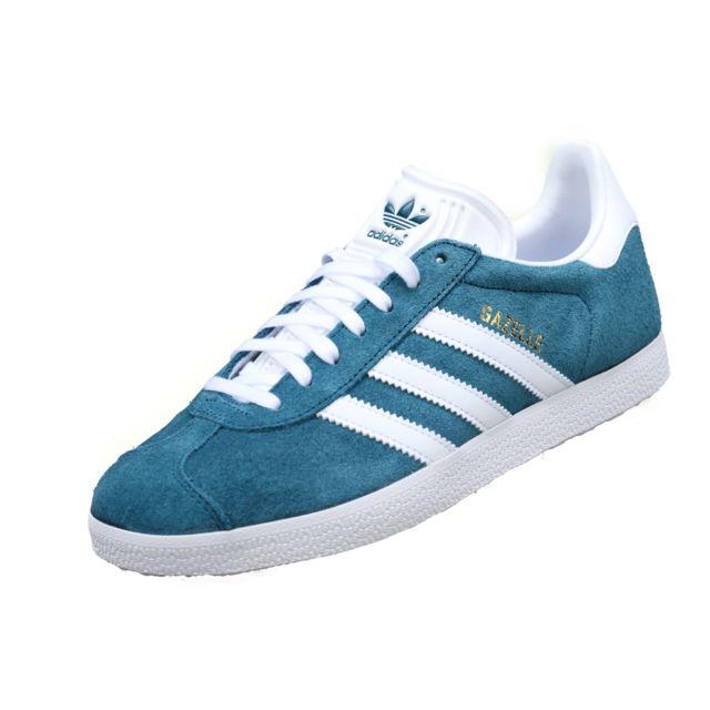 Adidas Gazelle B41654 Turquoise Bleu pas cher Achat