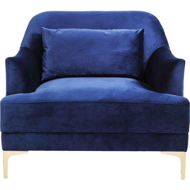 Karedesign Fauteuil Proud velours bleu roi Kare Design