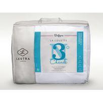 Lestra - Couette chaude confort moelleux enveloppe coton supérieur Softyne
