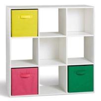 Delightful GÉNÉRIQUE   Petit Meuble De Rangement Compo Lot De 2 Cubes 9 Cases Blanc