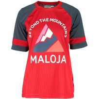 Maloja - AlzM Maillot manches courtes - gris/rouge