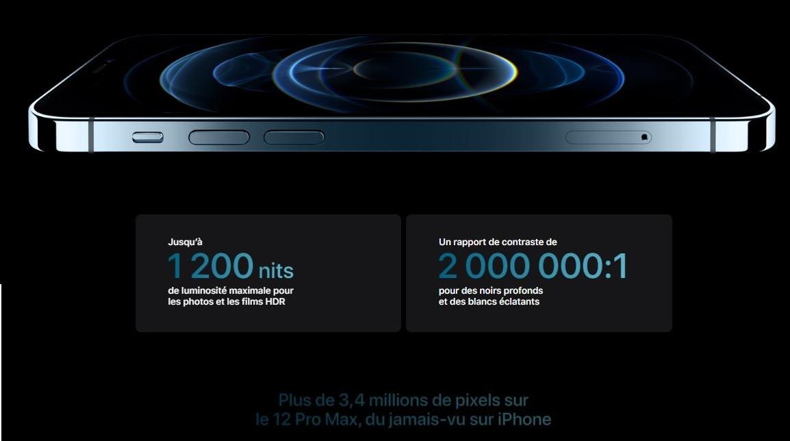 iPhone 12 Pro Max - 256 Go - Graphite