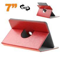 Yonis - Etui protection tablette tactile 7 pouces simili cuir 360° Rouge