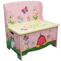 fantasy fields banc de rangement meuble en bois bote coffre jouets enfant fille td - Coffre A Jouets Banc
