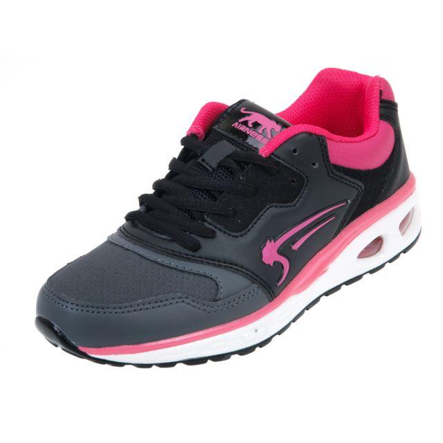 cd27ed0a1081d Airness - Chaussures running mode Oblivion air noir rose Noir 39547 - pas  cher Achat   Vente Baskets femme - RueDuCommerce