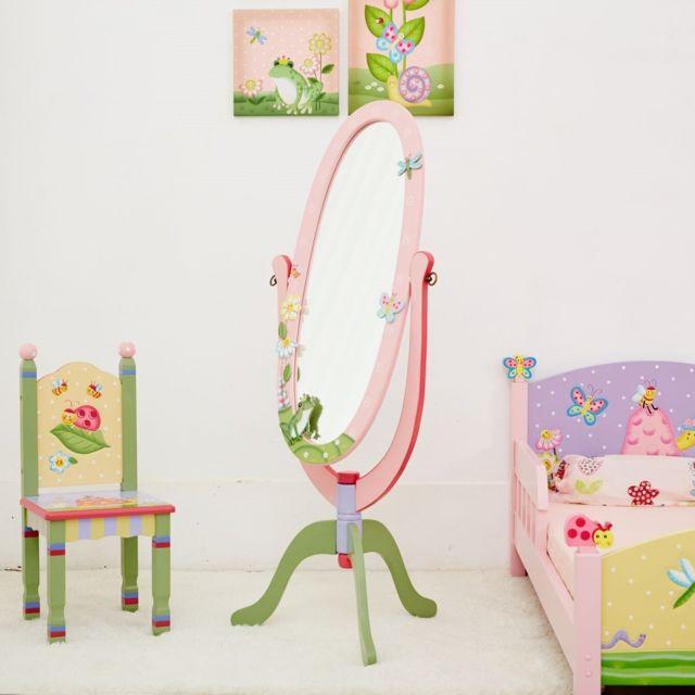 FANTASY FIELDS - Miroir sur pied enfant Magic Garden en bois décor ...