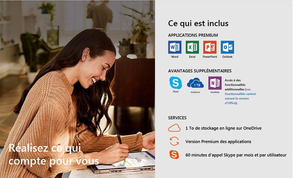 Office 365 Personnel pour PC/Mac 1 an Microsoft