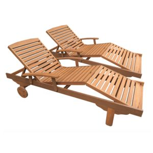 habitat et jardin bain de soleil pliant en bois exotique singapour maple marron clair. Black Bedroom Furniture Sets. Home Design Ideas