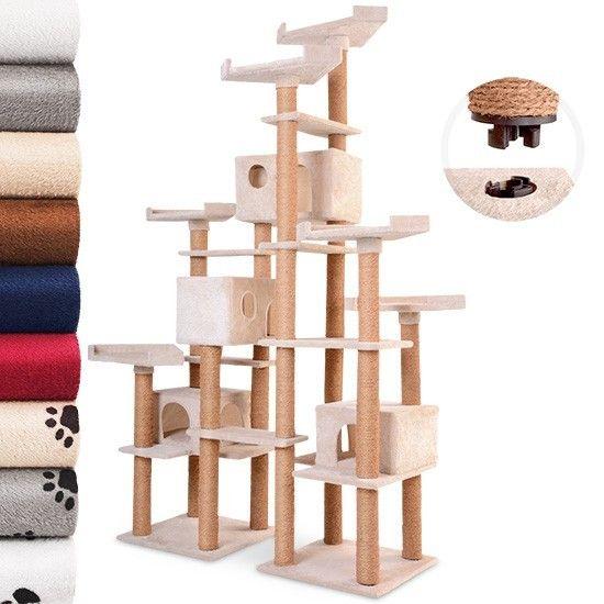 leopet arbre chat avec 4 grottes et plusieurs plateaux. Black Bedroom Furniture Sets. Home Design Ideas