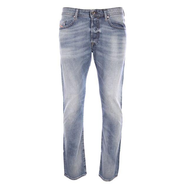 bd1d1e9fe12f9 Diesel - homme - Jeans coupe droite Buster 0853P Bleu - W33 L32 - pas cher  Achat / Vente Jeans homme - RueDuCommerce