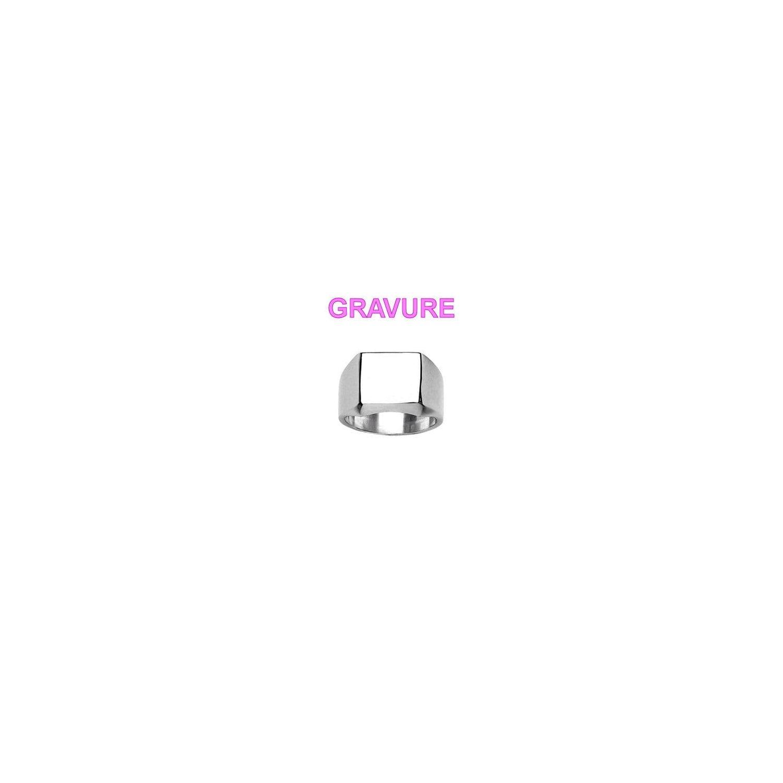 SOCHICBIJOUX- So Chic Bijoux © Bague Chevalière Anneau Carré Acier  Inoxydable - Personnalisable   Gravure e02770d9b49b