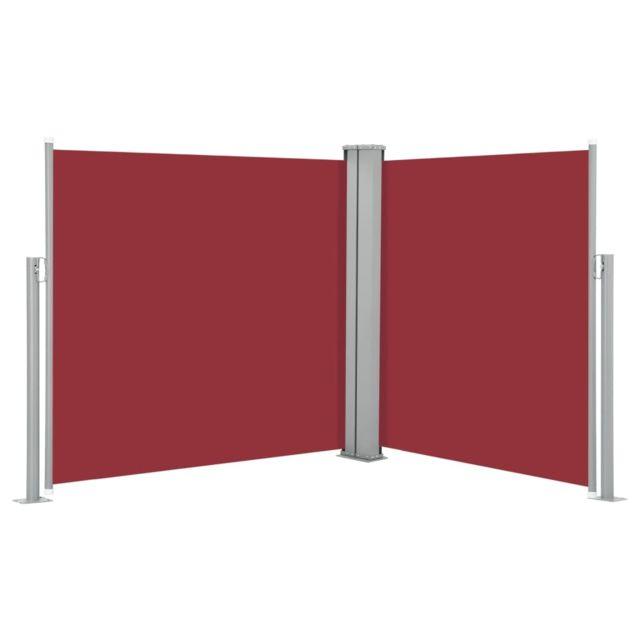 Vidaxl Auvent latéral rétractable Rouge 100 x 600 cm