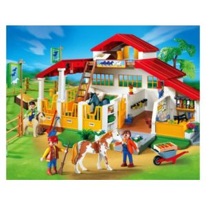 playmobil centre questre 4190 pas cher achat. Black Bedroom Furniture Sets. Home Design Ideas