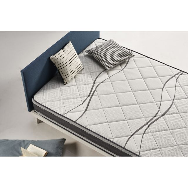 Matelas Satellite 150x200 Cm Mousse à Mémoire Visco V200 Visco Gel 25 Cm Confort Tonique