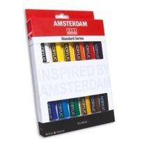 Royal Talens - Acrylfarbe Amsterdam Introset Ii, 12 X 20 Ml Standard Series, Mit Wasser Verdnnbar, Kurze Trocknungs- Zeit, Beinahe