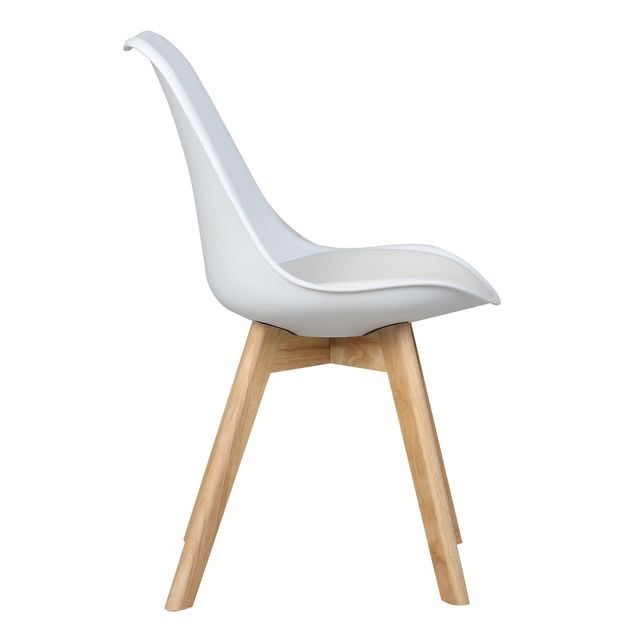 Bestmobilier - Malmö - Lot de 4 chaises design scandinave - Blanc Pu