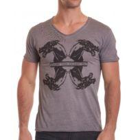 BLZ Jeans - T-shirt avec sérigraphie gris anthracite