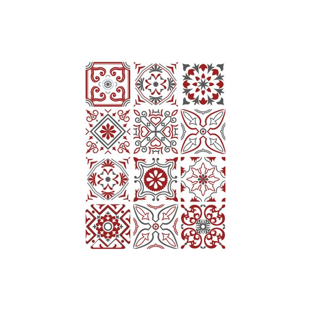 Adhesif Carrelage Sticker Carreaux De Ciment Bisknight 12 Pieces 15 X 15 Cm