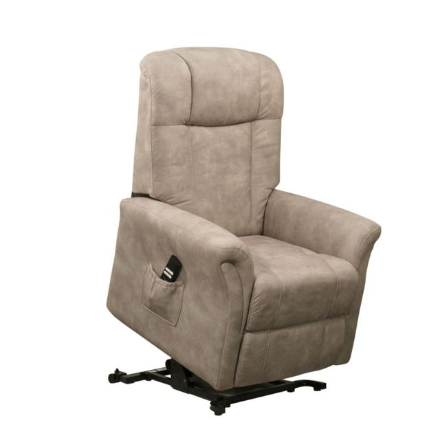 tousmesmeubles fauteuil releveur 1 moteur mastic liberty gris relaxation relaxation. Black Bedroom Furniture Sets. Home Design Ideas