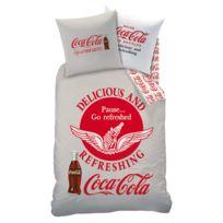 Coca Cola - Housse de couette et taie 63x63 enfant ou adulte 100% coton