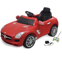Rocambolesk - Superbe Voiture électrique 6 V avec télécommande Mercedes Benz Sls Amg rouge neuf