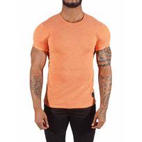Project X - Tee Shirt semi-oversize zippé sur les côtés Homme Paris 88171149, Taille: Xs, Couleur: Orange