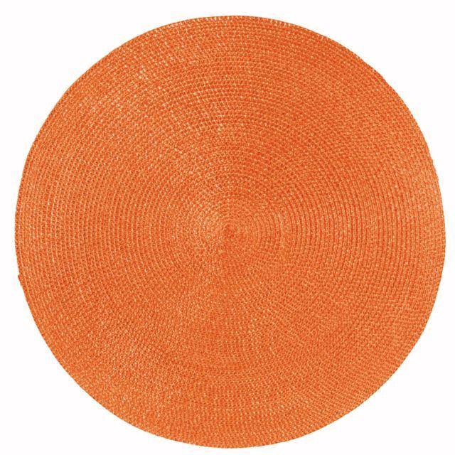 Winkler Set De Table Rond Classique Orange Diamètre 35