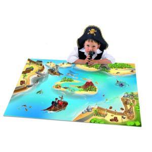 debonsol tapis de jeu enfant ile aux pirates bleu pas cher achat vente tapis rueducommerce. Black Bedroom Furniture Sets. Home Design Ideas