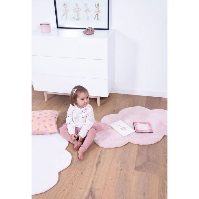 Tapis Nuage rose Pastel chambre bébé fille par - Couleur - Rose, Taille -  64 x 100 cm