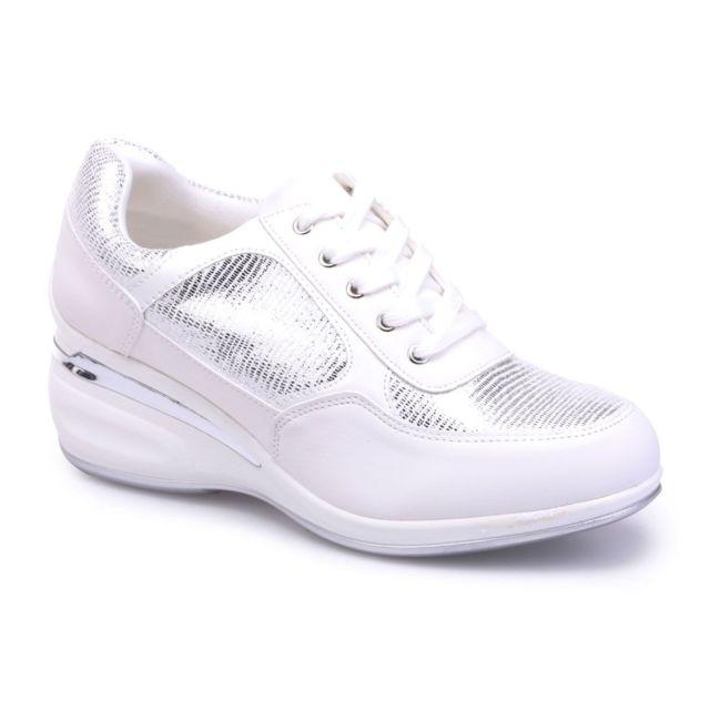 Lamodeuse Baskets blanches scintillantes à semelle
